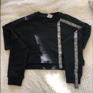 Gymshark 24/7 Cropped Sweater - Black